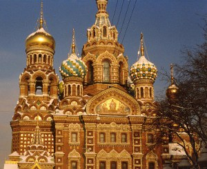 Pietarissa kirkko nimeltä verikirkko